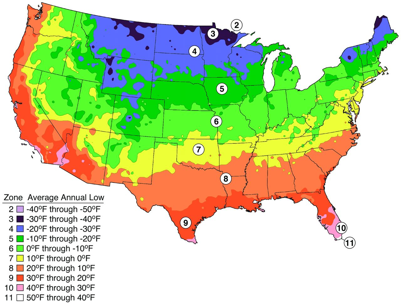 Subarachnoid Hemorrhage Incidence In The United States Does Not - Annual low temperatures us map