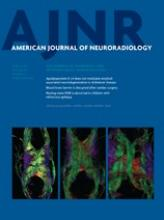 American Journal of Neuroradiology: 34 (3)