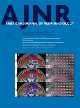 American Journal of Neuroradiology: 37 (7)