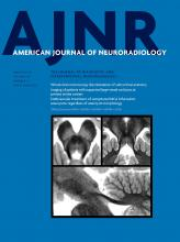 American Journal of Neuroradiology: 40 (3)