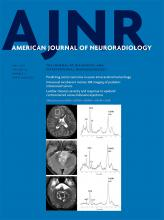 American Journal of Neuroradiology: 40 (5)