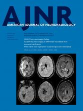 American Journal of Neuroradiology: 41 (8)